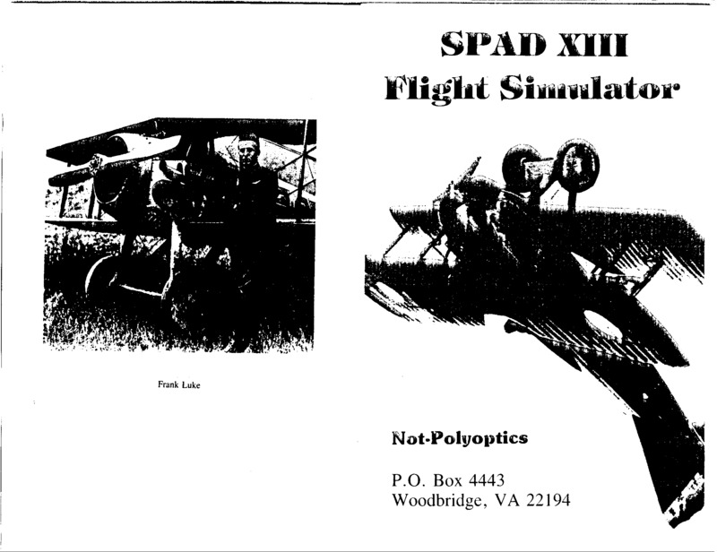 Spad XIII Mark 2 flight simulator manual.pdf