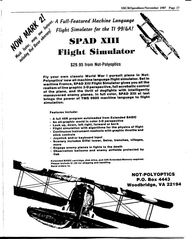 SPAD XIII Mark 2 Ad (MP Nov 1987).jpg