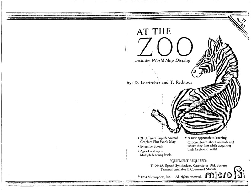 At the Zoo (uses TEII speech) manual.pdf