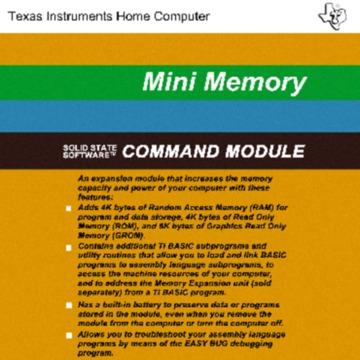 Texas Instruments PHM3058 Mini Memory Module Exact.pdf