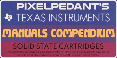 Pixelpedant's TI-99/4A Manuals Compendium